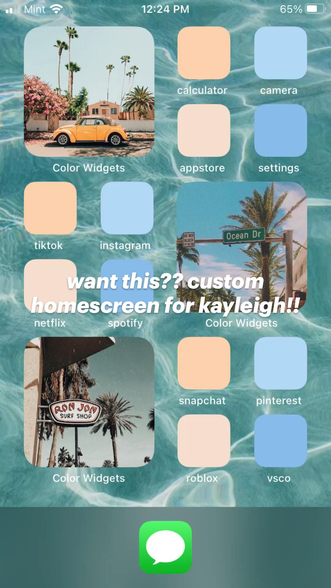 want this?? custom homescreen for kayleigh!!