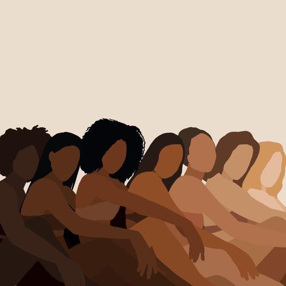 Diverse Women Portrait | Different skin tones | female empowerment | women art | black women art | d