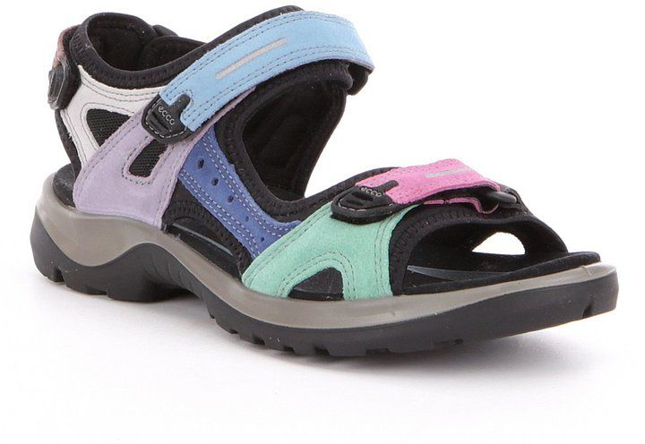 ECCO Women's Yucatan Offroad Multi Colored Banded Outdoor