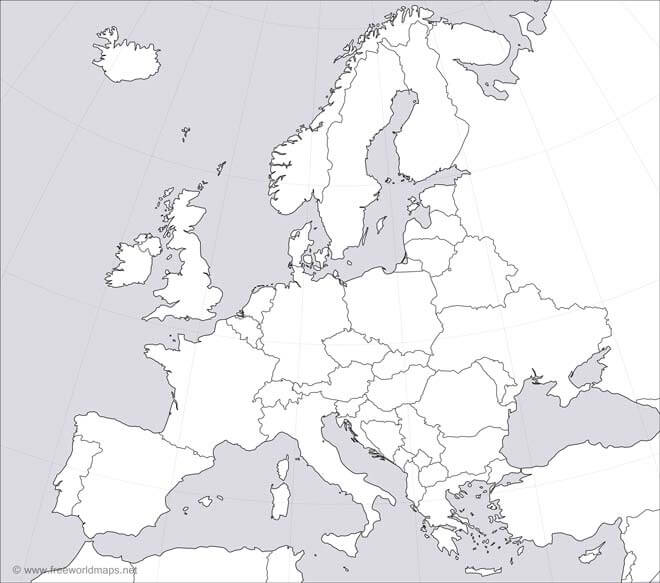 45+ Adorable blank map of europe worksheet ideas