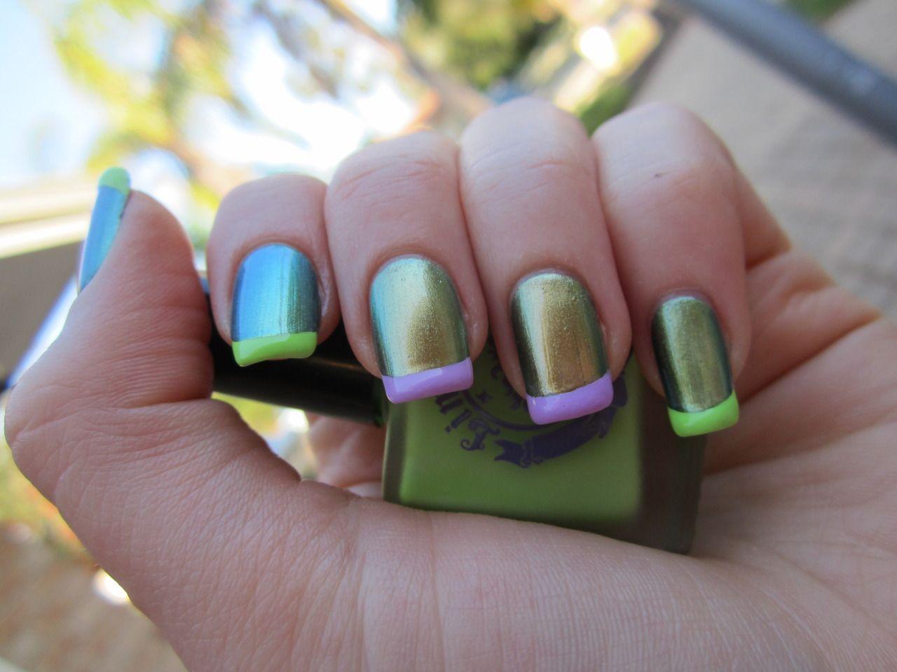 I like nail polish that changes color depending on the angle you ...