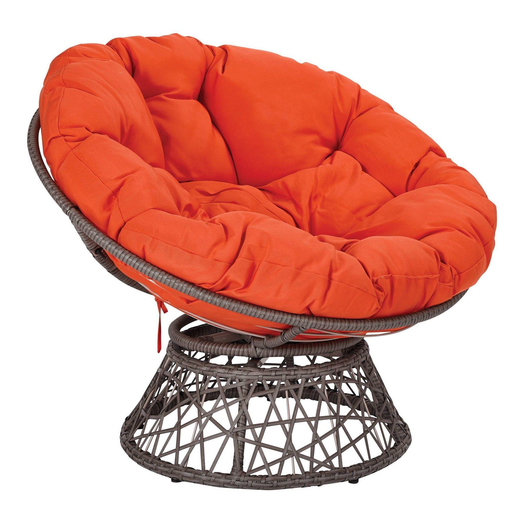 Papasan Chair Orange Osp Home Furnishings Adult Unisex