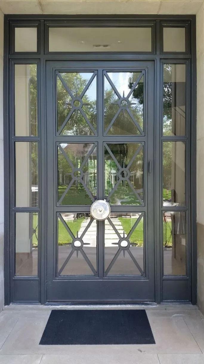58 House Design Modern Exterior Front Doors 24 New Ideas In 2020 Iron Doors Wrought Iron Doors Iron Front Door