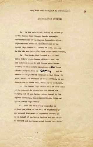 Surrender Agreement Ending World War Ii Httpamazondp