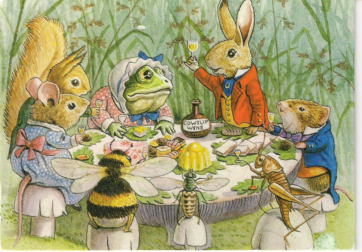 Picnic With Cowslip Wine In 2019 Illustration