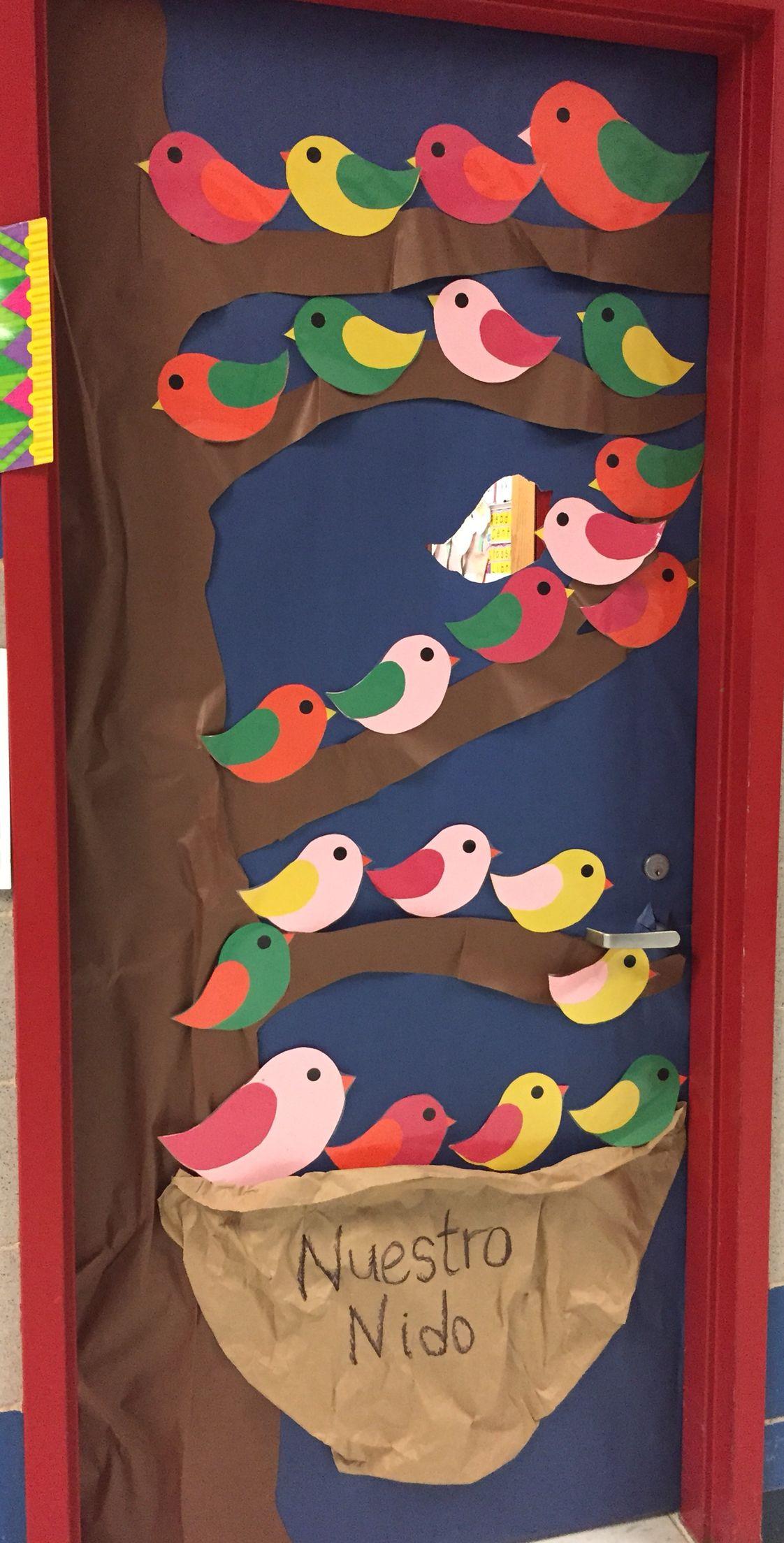 Birdie Quot Our Nest Quot Spanish Class Door Decoration Pin