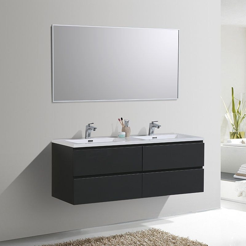 19 Meilleur Meuble Double Vasque Gris Images Idees Etonnantes De Meubles In 2019 Double Vanity Bathroom Vanity