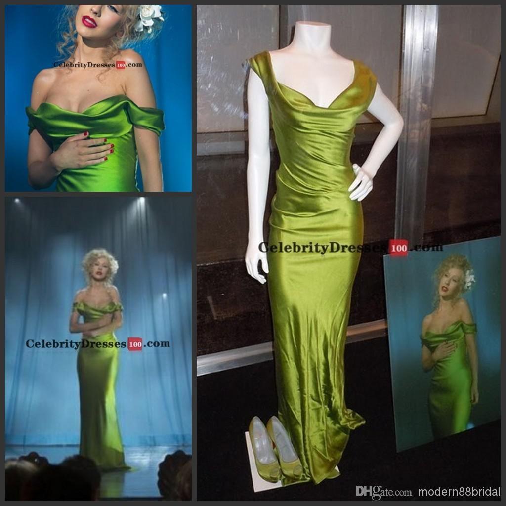 Christina Aguilera Green Dress Burlesque Replica Off-the