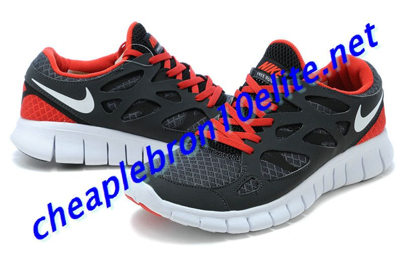 outlet store 4e745 42a1c Dark Grey Nike Free Run 2 Mens Red 443815 006