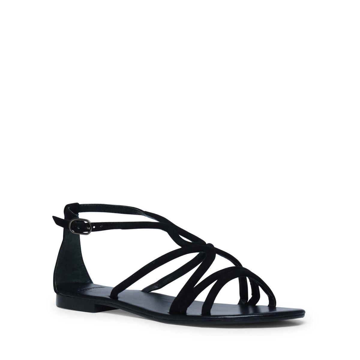 Platte sandalen zwart  Description: Sandalen van het merk Manfield. De sandalen zijn gemaakt van suède. De speelse bandjes geven de sandalen net dat extra?s. Combineer de sandalen onder een zomers jurkje of een opgerolde jeans. De maat valt normaal.  Price: 48.99  Meer informatie  #manfield
