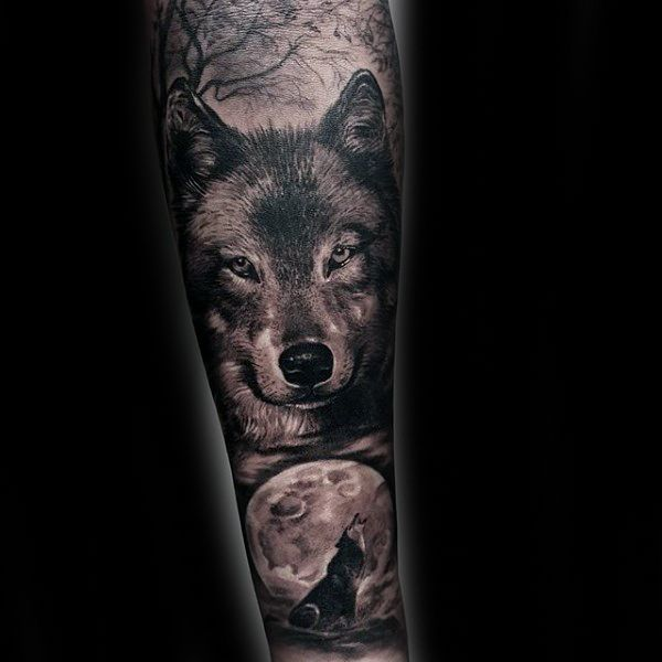 40 Wolf Forearm Tattoo Designs For Men Masculine Ink Ideas Forearm Sleeve Tattoos Full Sleeve Tattoo Design Sleeve Tattoos