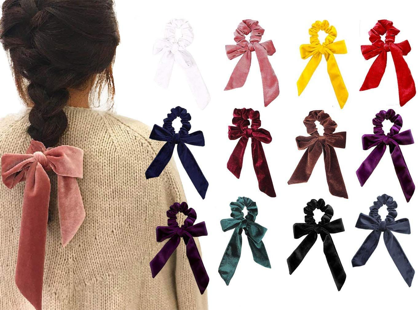 new cheap where can i buy uk cheap sale Amazon.com : 6Pcs Hair Scrunchies Bowknot Fabric Elastics ...