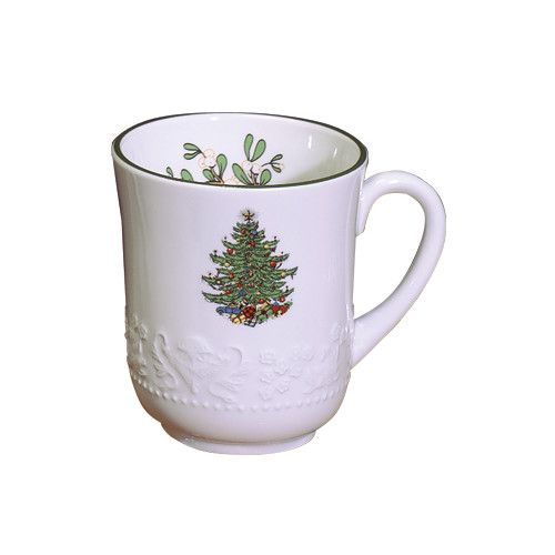Original Christmas Tree Dickens Embossed Mug Christmas tea