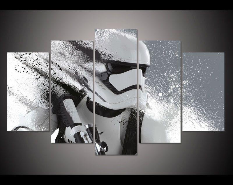 Stormtrooper Star Wars Modern Canvas Art Wall Decor 5 Piece Canvas Art Customized Canvas Art