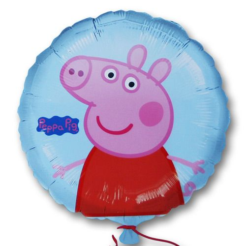 Peppa Pig 45cm Foil Balloon - Film & Book Character Foil Balloons - Party Ark