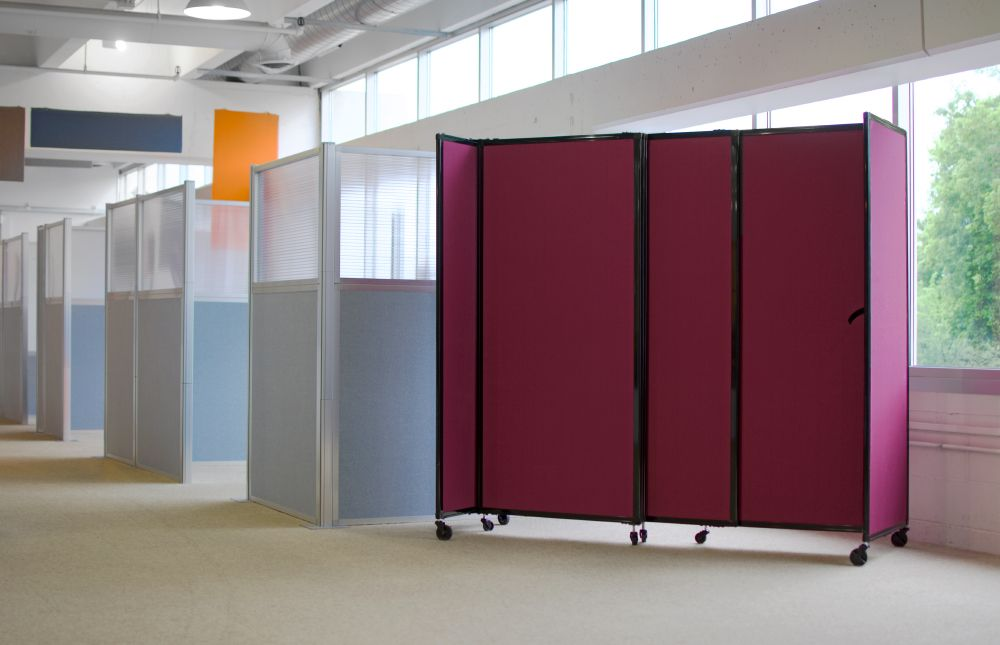 Need a portable room divider How about a few simple DIY cubicles