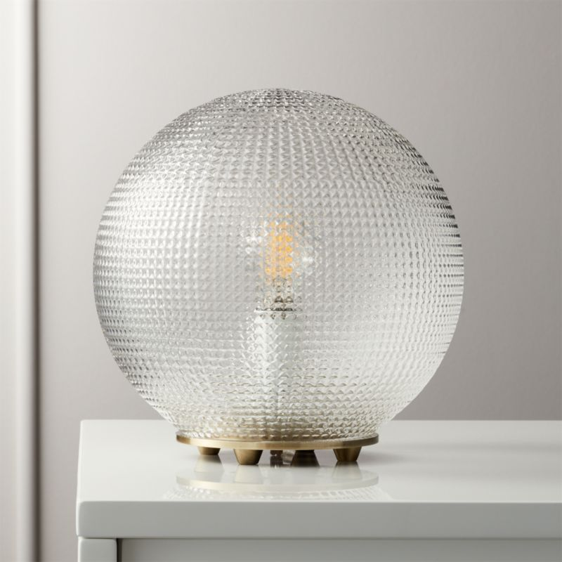 Shop Halo Globe Table Lamp Glass Globe Table Lamp Exudes One Of A Kind Vintage Vibes Thanks To Handmade Engraved Modern Table Lamp Room Lamp Glass Floor Lamp
