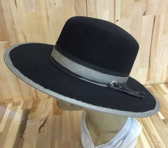 silverado black western weight beaver blend fur felt hat. wide flat brim  measures 3 3 4. crown height is 4 1 2. silver silk accents. quality lambskin b96e12ad76cf