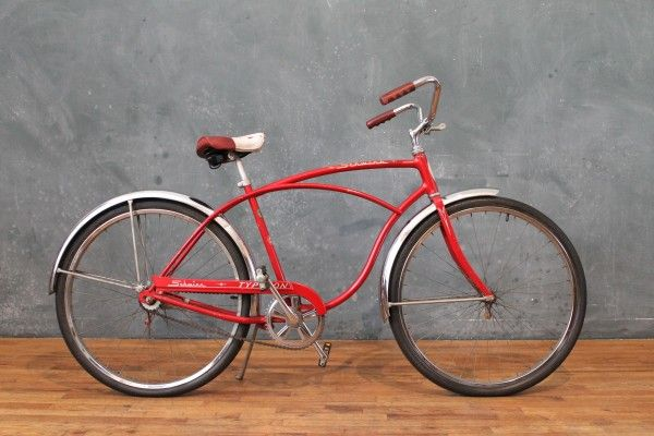 7a2a69ba704 1960s Schwinn Typhoon Red and Chrome Cruiser Bicycle | New Arrivals ...