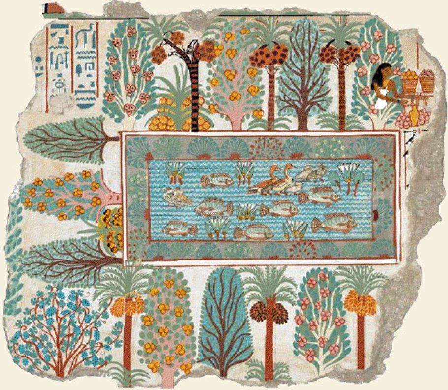 Le Jardin De Nebamon V 1350 Histoire De La Peinture Art Egyptien Art Antique