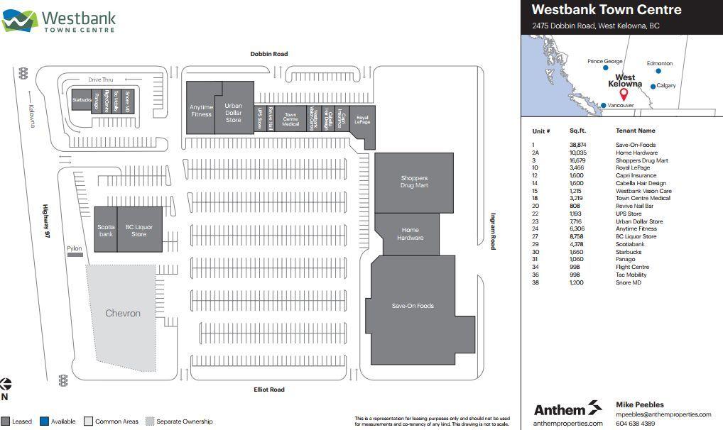 Westbank Towne Centre Shopping Plan British Columbia Kelowna Shopping Places
