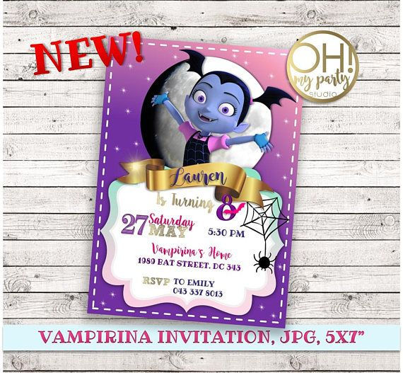 VAMPIRINA Birthday Invitation, Vampirina Party, Vampirina Birthday, Vampirina  Invitation, Vampirina Disney, Vampirina Printable, Vampirina