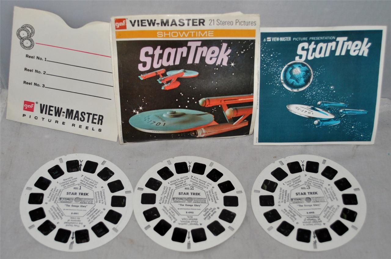 gaf VIEW-MASTER Star Trek 21 Stereo Pictures on 3 Discs with Cover & Booklet