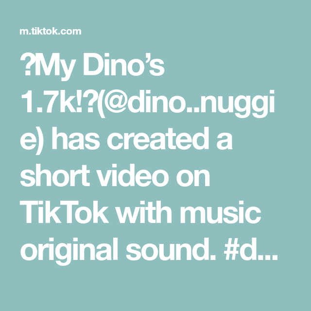 My Dino S 1 7k Dino Nuggie Has Created A Short Video On Tiktok With Music Original Sound Duet With The Originals Korean Food This Or That Questions