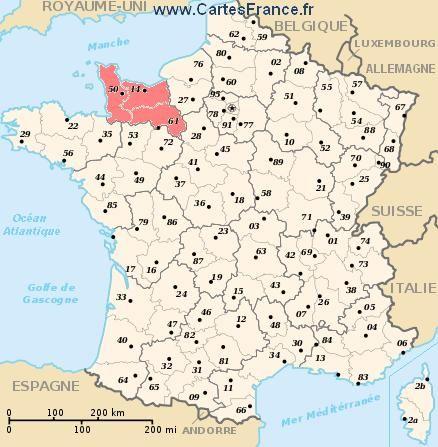 normandie carte de france carte region Basse Normandie (met afbeeldingen) | Frankrijk
