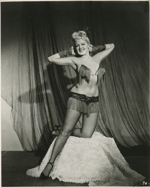 Jennie Lee ~ The Bazoom Girl: Vintage 8x10 photo.  Jennie Lee was the original founder of Exotic World, which went on to become the Burlesque Hall of Fame, now located in Las Vegas.