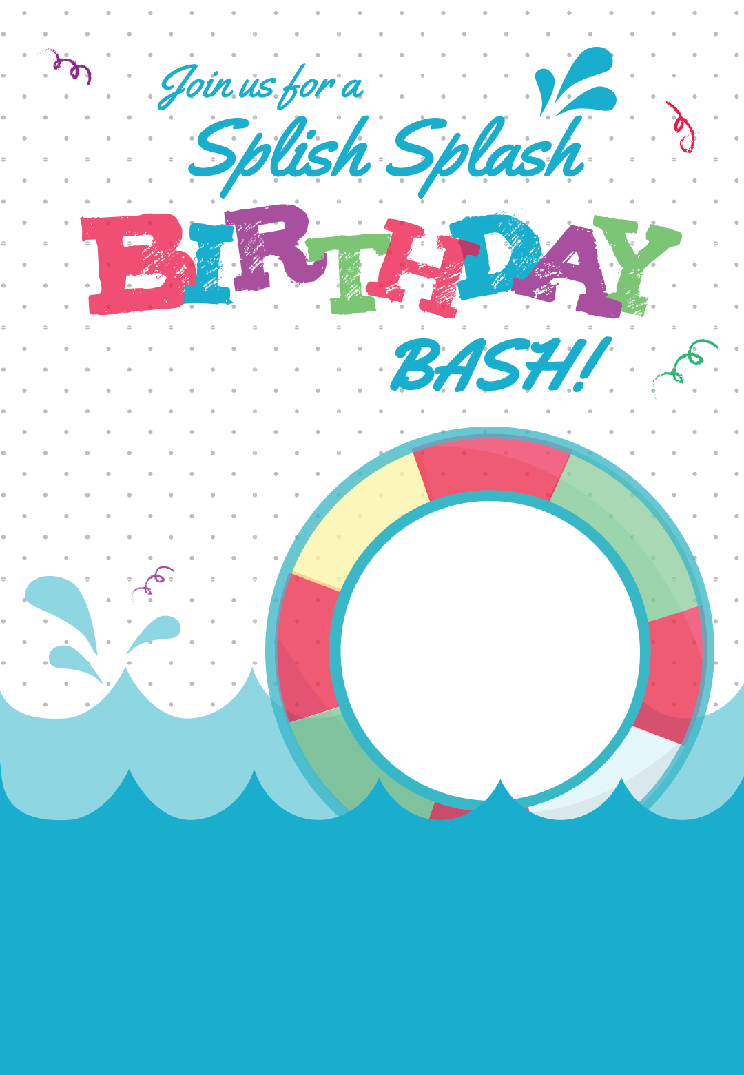 Splish Splash - Pool Party Invitation Template (Free)  Greetings