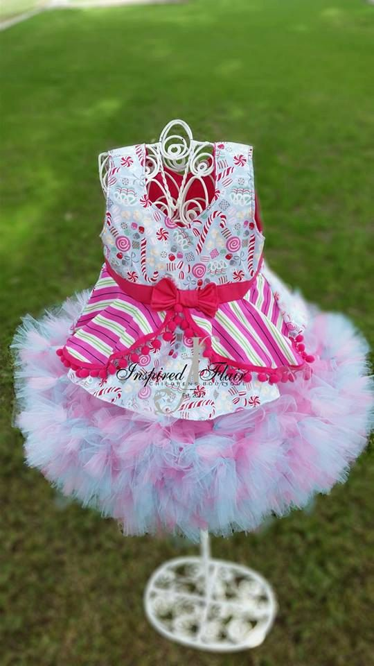 Christmas Outfit Holiday Outift Holiday Tutu Holiday top One of a Kind Outfit Peppermit Top Pink Top by InspiredFlair on Etsy