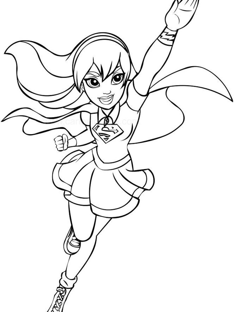 Dc Superhero Girls Coloring Pages Free Coloriage super