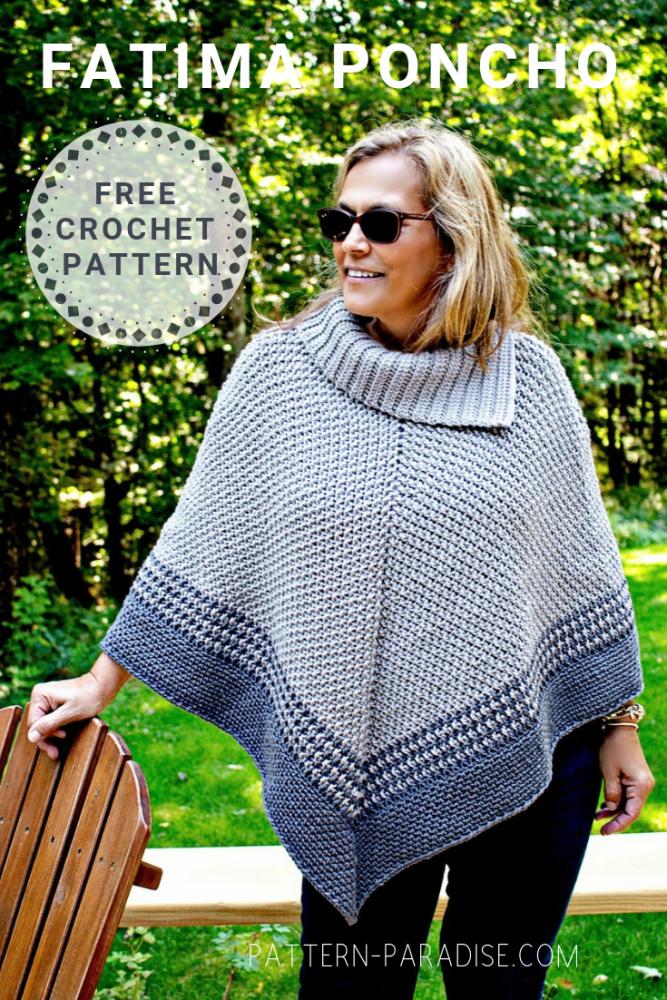 Free Crochet Pattern: Fatima Poncho | Shawls, Wraps, Ponchoes ...