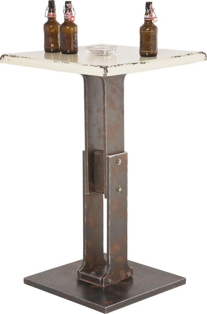 tisch stehtisch beistelltisch bar vintage wei neu kare design tischbeine hocker pinterest. Black Bedroom Furniture Sets. Home Design Ideas