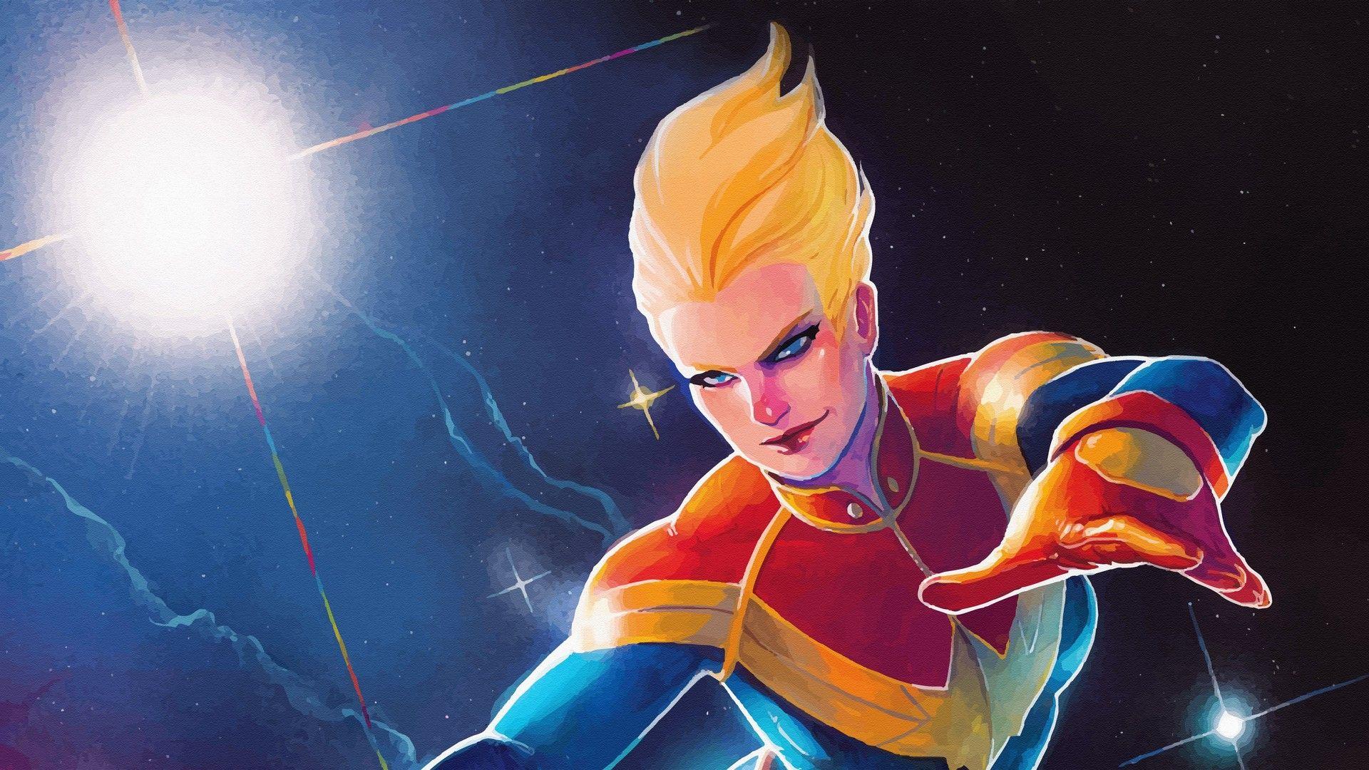 Captain Marvel Animated Background Wallpaper Hd Wallpaper