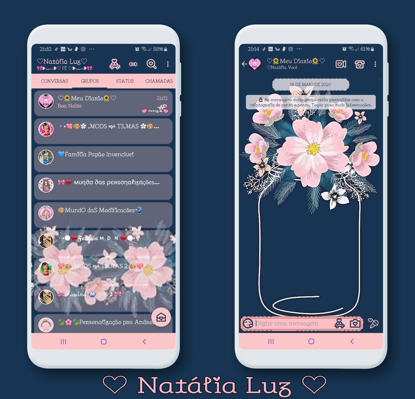 Flowers Theme For Yowhatsapp Aero Whatsapp By Natalia Luz Ios Dark Theme Theme Android Theme