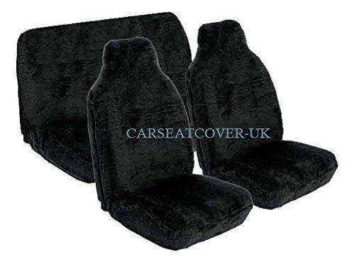 Luxury Black Faux Fur Car Seat Covers