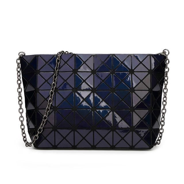 New with Logo Baobao Women Pearl Laser Sac Bags Diamond Lattice Geometry  Quilted Shoulder Fold Over 5129638a67d3b
