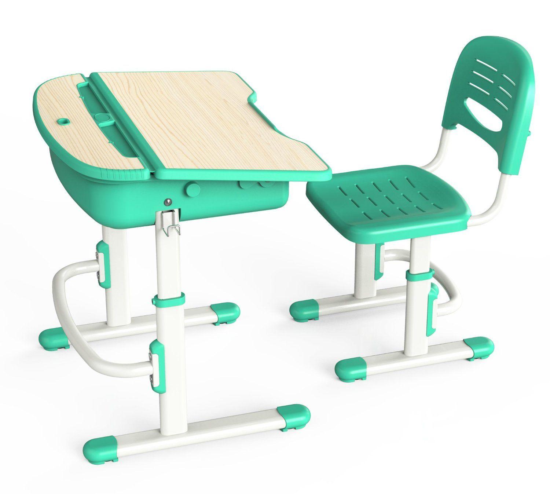 Ergonomic Kids Desk & Chair Green Toys & Games
