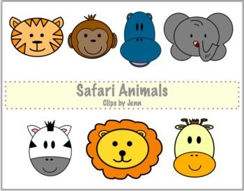 Safari Animals Freebie {Graphics for Personal & Commercial