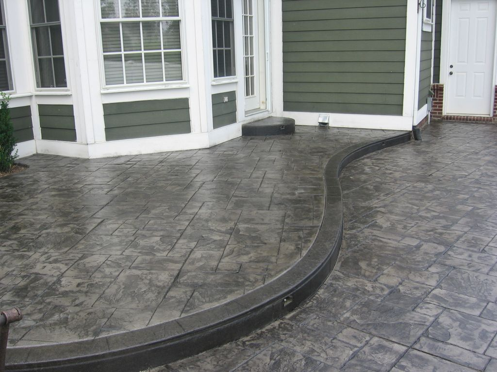Cement stamped driveways authentic stamped concrete can make your home improvement dream - Concrete backyard design ...