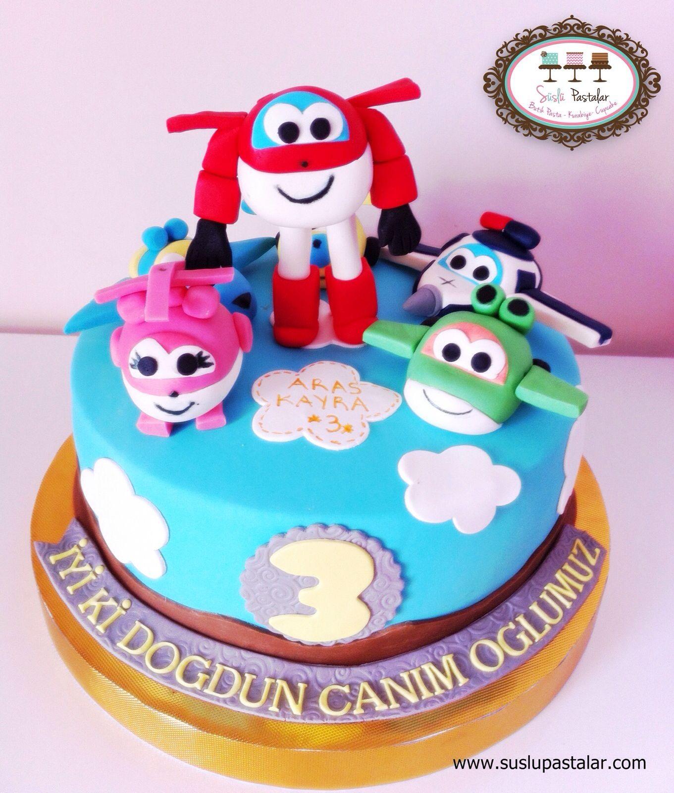 Super wings , super wings cake , birthday cake , harika kanatlar ...