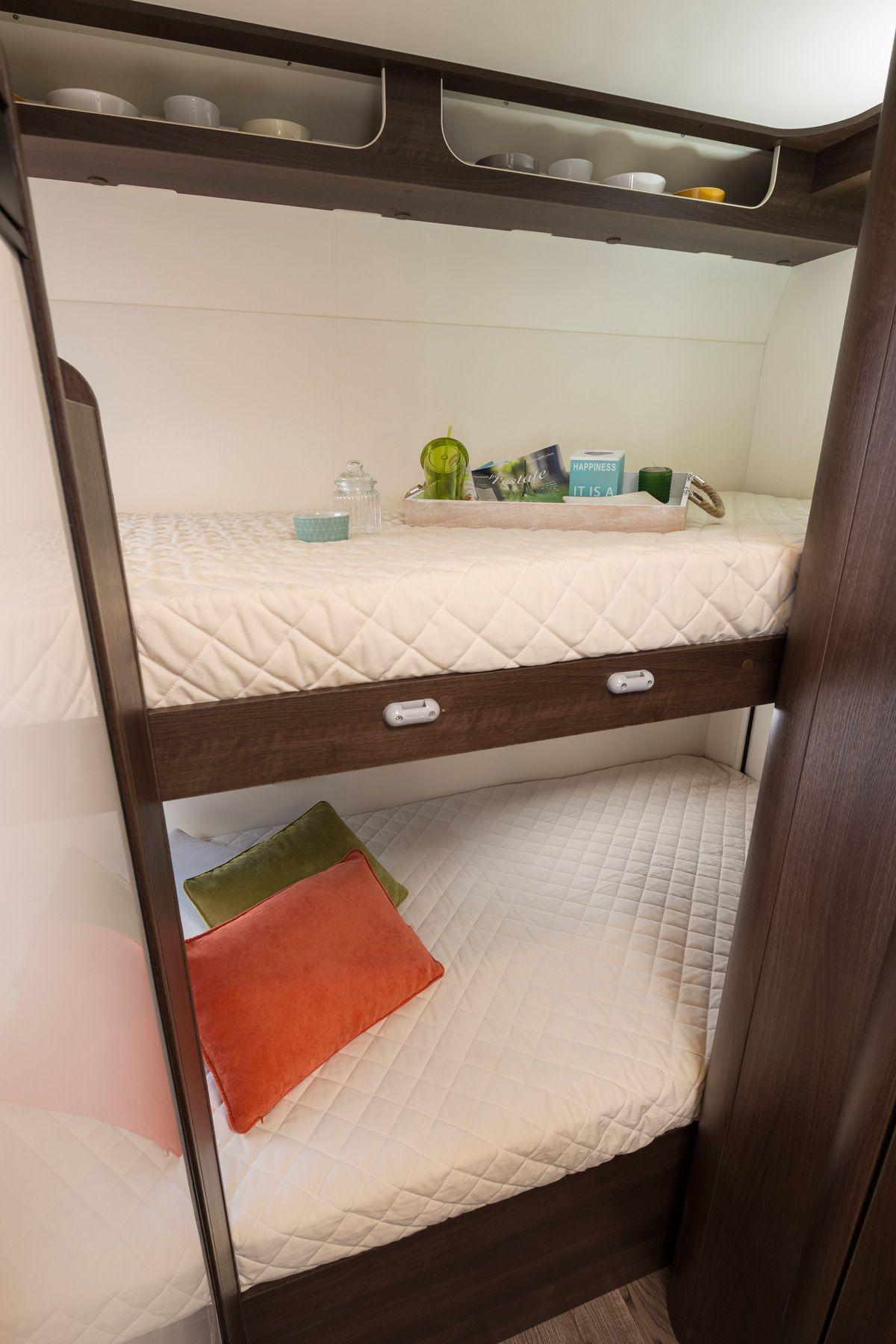 Luxury motorhome bunk beds. You don't have to compromise