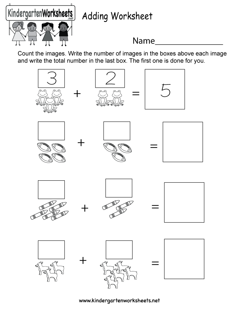 This Is An Image Addition Worksheet For Kindergarteners Kids Will