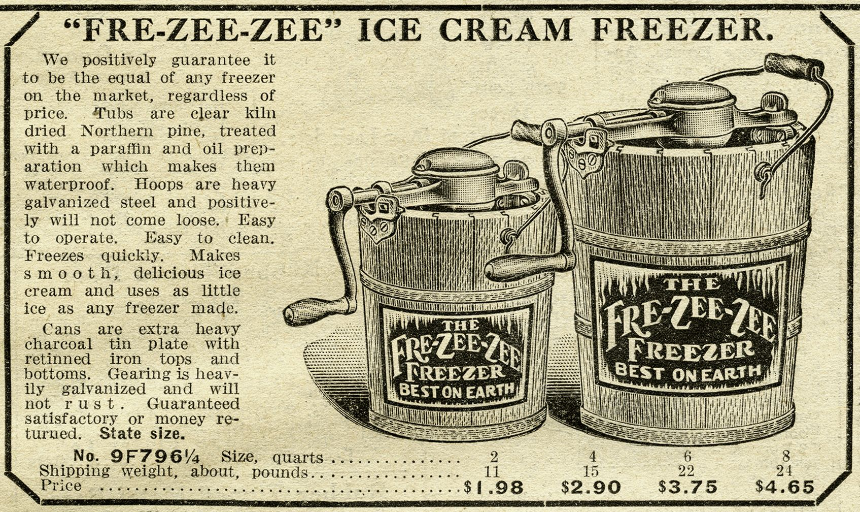 antique ice cream maker free catalogue ad and clip art old