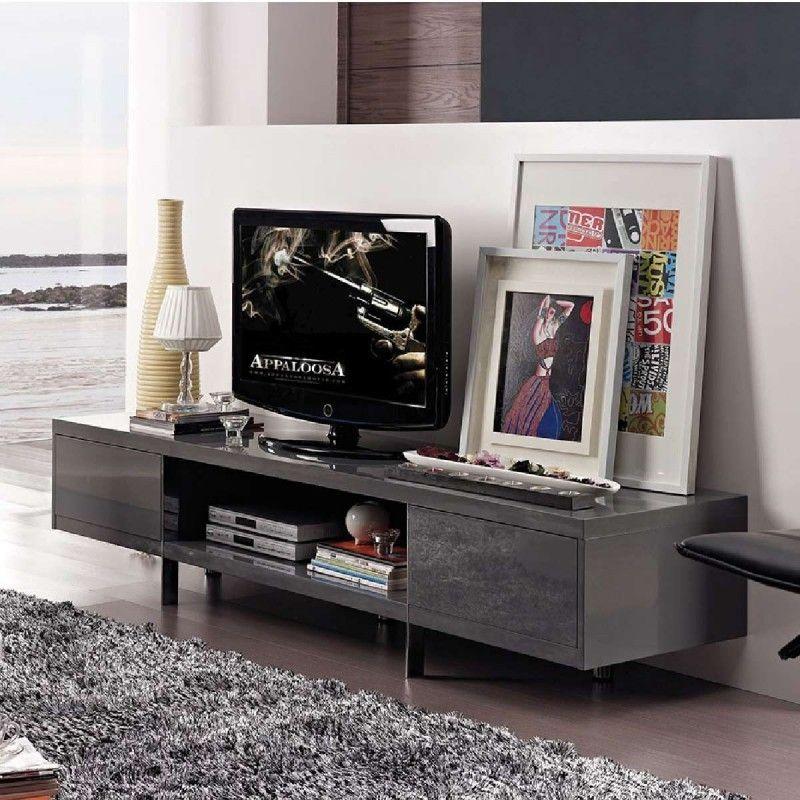 banc tv design laque lucia gris atylia