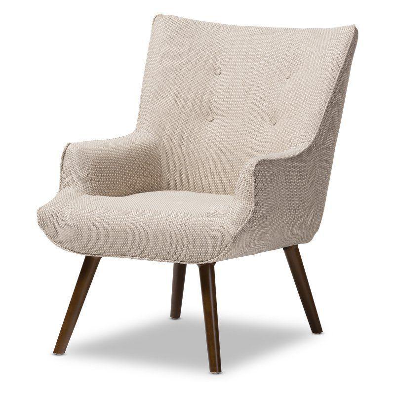 Baxton Studio Nola Accent Chair Beige U5033w Latte Cc