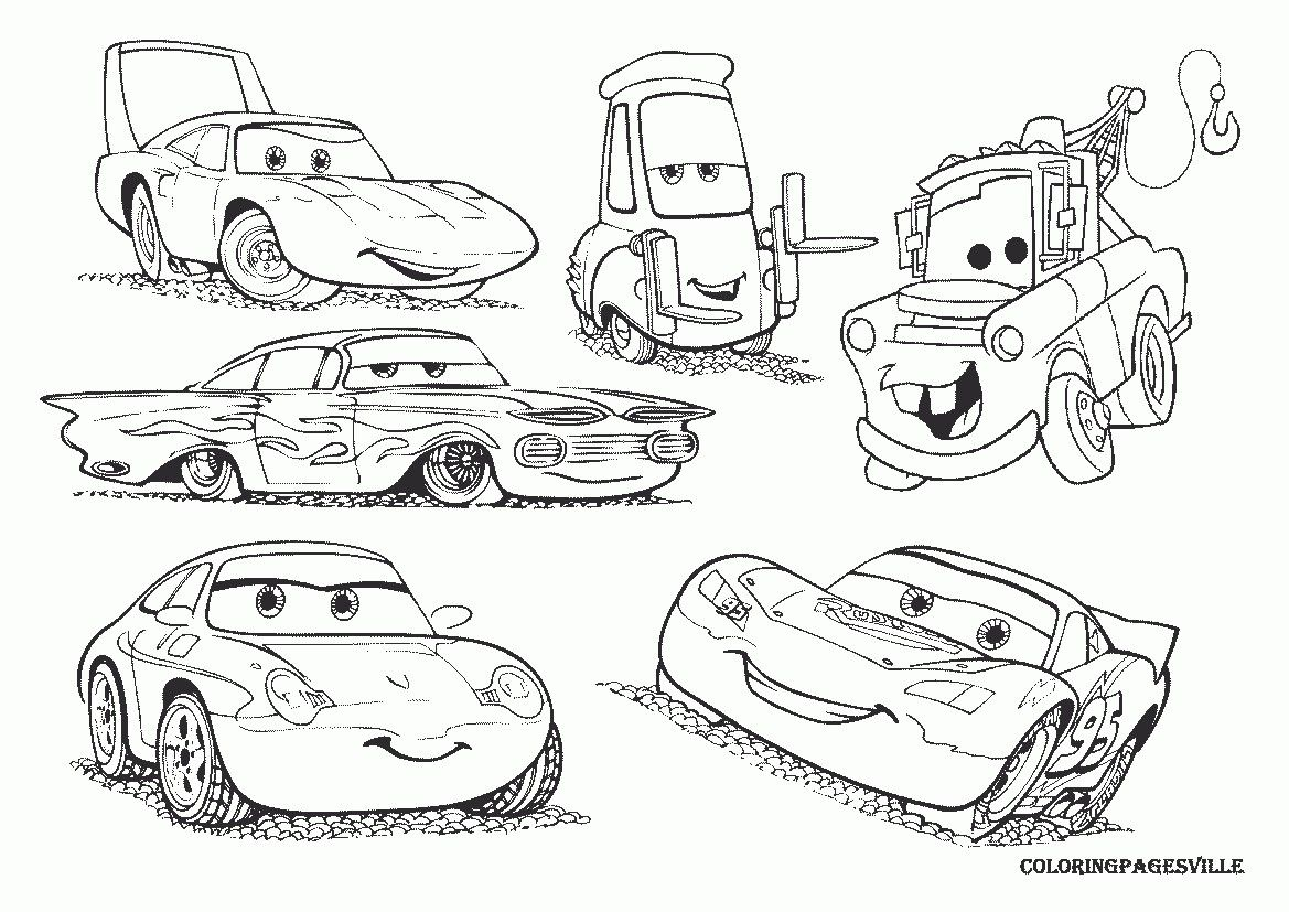 Disney Cars The King, Guido, Ramone, Mater, Sally