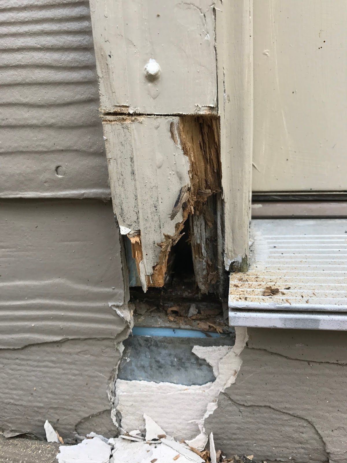 How To Repair Dry Rot On A Door Frame Or Window Door Frame Repair Wood Repair Door Repair